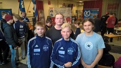 Santeri Suonpää, Nuutti Mansukoski, Petteri Suonpää ja Leevi Mansukoski